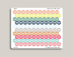 Habit Tracker Hexagon Dumbbell Planner Stickers for 2019 inkWELL Press Planners IWP-T121