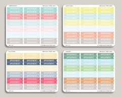 Classic Flag Header Stickers for 2019 inkWELL Press Planners IWP-T28