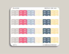 Pay Day Flag Planner Stickers for 2019 inkWELL Press Planners IWP-T3