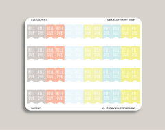Bill Due Flag Planner Stickers for 2019 inkWELL Press IWP-T30