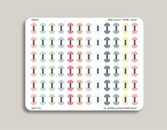 Dumbbell Icon Planner Stickers for 2019 inkWELL Press IWP-T32