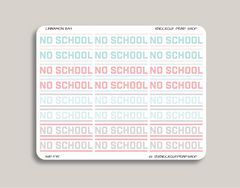 No School Planner Stickers for 2019 inkWELL Press Planners IWP-T35