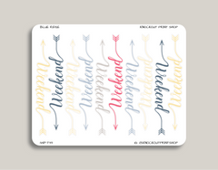 CLASSIC Script Weekend Banner Stickers for 2019 inkWELL Press Planners IWP-T39