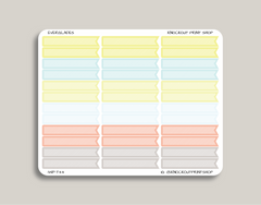 Striped Blank Header Flag Stickers for 2019 inkWELL Press Planners IWP-T44