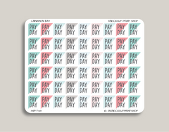 Payday Corner Label Planner Stickers for 2019 inkWELL Press Planners IWP-T48