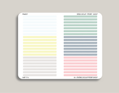 Striped Divider FLEX Stickers for 2019 inkWELL Press Planners IWP-T4