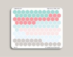 Solid Habit Tracker Hexagons Stickers for 2019 inkWELL Press Planners IWP-T5