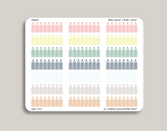 Solid Daily Hydration Tracker Planner Stickers for 2019 inkWELL Press Planners IWP-T53