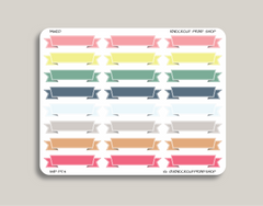 To Do, Today, Blank Ribbon Banner Label Stickers for 2019 inkWELL Press Planners IWP-T54