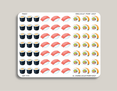Sushi, Nigiri, Maki Roll Icon Planner Stickers for 2019 inkWELL Press Planners IWP-T55