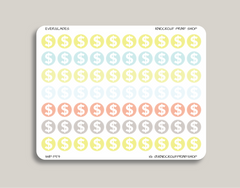 Dollar Sign Icon Planner Sticker for 2019 inkWELL Press Planners IWP-T59