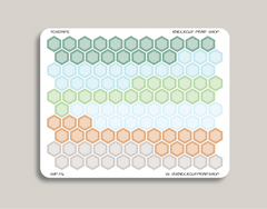 Striped Habit Tracker Hexagons Icon Stickers for 2019 inkWELL Press Planners IWP-T6