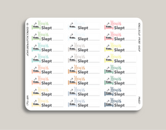 Hours Slept Planner Stickers for 2019 inkWELL Press Planners IWP-T60