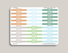 CLASSIC Bubble Header Stickers for 2019 inkWELL Press Planners IWP-T62