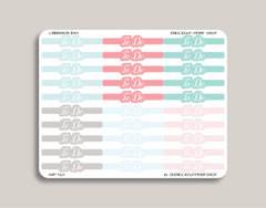 CLASSIC Script Bubble Header Stickers for 2019 inkWELL Press Planners IWP-T63