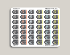 Pick Up RX, Pill Reminder Planner Stickers for 2019 inkWELL Press Planners IWP-T67