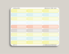 Solid Single Line Label | Appt, Work, Blank | Planner Stickers for 2019 inkWELL Press IWP-T71