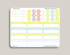 Goal Setting Planner Stickers for 2019 inkWELL Press Planners IWP-T72