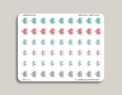 Heart Rate Planner Stickers for 2019 inkWELL Press Planners IWP-T74