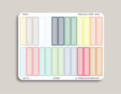 Solid Monthly Planner Stickers for 2019 inkWELL Press Planners IWP-T8