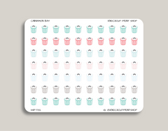 Trash/Garbage Icon Icon Planner Sticker for 2019 inkWELL Press Planners IWP-T82