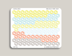 Habit Tracker Hexagon Shoe Icon Planner Stickers for 2019 inkWELL Press Planners IWP-T84