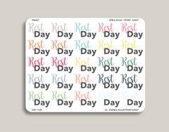 Rest Day Planner Stickers for 2019 inkWELL Press Planners IWP-T85