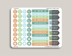 Busy Day Sampler Planner Stickers for 2019 inkWELL Press Planners IWP-T86