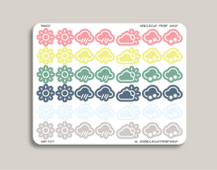 Weather Sampler Planner Stickers for 2019 inkWELL Press Planners IWP-T87