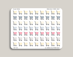 Shopping Cart Icon Planner Sticker for 2019 inkWELL Press Planners IWP-T89