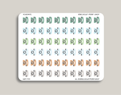 Phone Icon Planner Stickers for 2019 inkWELL Press Planners IWP-T99
