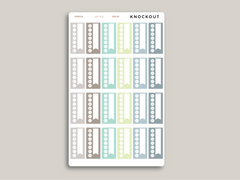 Daily Habit Tracker Planner Stickers for 2021 inkWELL Press Planners IWP-W15