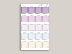 Sticky Note Box Planner Stickers for 2021 inkWELL Press Planners IWP-N60 / IWP-W26