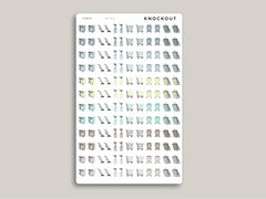 Cleaning/Chore Sampler Icon Planner Stickers for 2021 inkWELL Press IWP-N61 / IWP-W27
