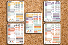 Road Trip Sampler, Vacation, Travel Planner Stickers for 2017 Inkwell Press IWP-DC12