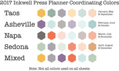 90 MEDIUM Sync Hexagons Stickers for 2017 Inkwell Press Planners IWP-S52
