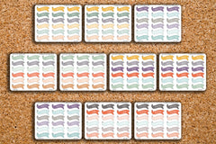 18 Functional Ribbon Banner Planner Stickers for 2017 Inkwell Press IWP-H41