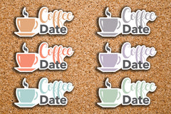 24 Coffee, Coffee Date, Lunch Date, Coffee Time Icon Stickers for 2017 Inkwell Press IWP-DC106