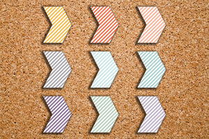 135 Striped Arrow Geometric Shape Planner Stickers for 2017 Inkwell Press IWP-S82