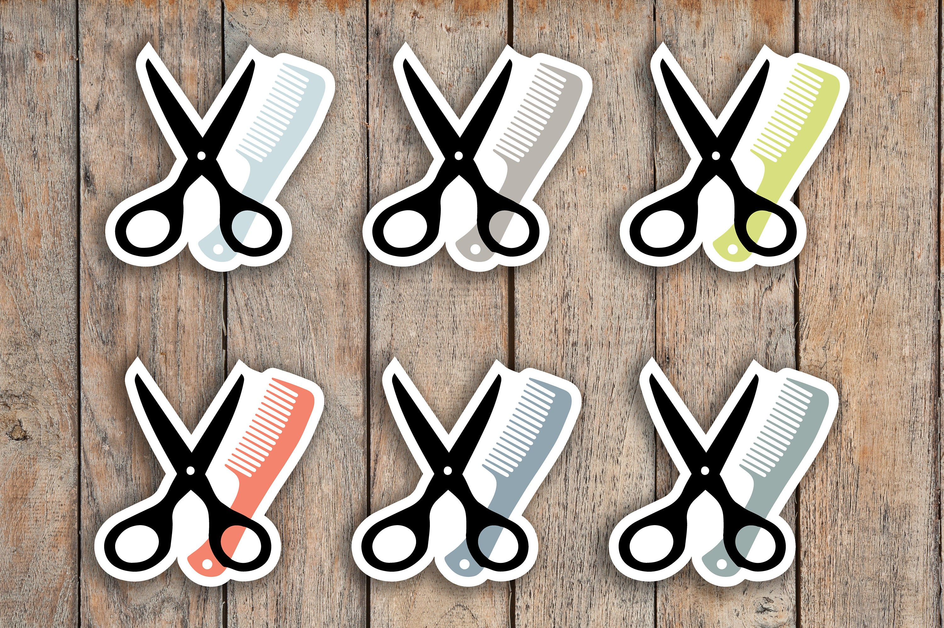 54 Haircut, Hair Appointment, Salon, Comb & Scissors Icon Planner Stickers for 2018 inkWELL Press Planners IWP-Q15