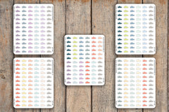 72 Fitness, Running Shoe, Workout, & Step Icon Planner Stickers for 2018 inkWELL Press Planners IWP-Q18