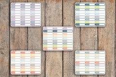 27 Striped Single Line Label | To Do, Work, Blank | Planner Stickers for 2018 inkWELL Press Planners IWP-Q30