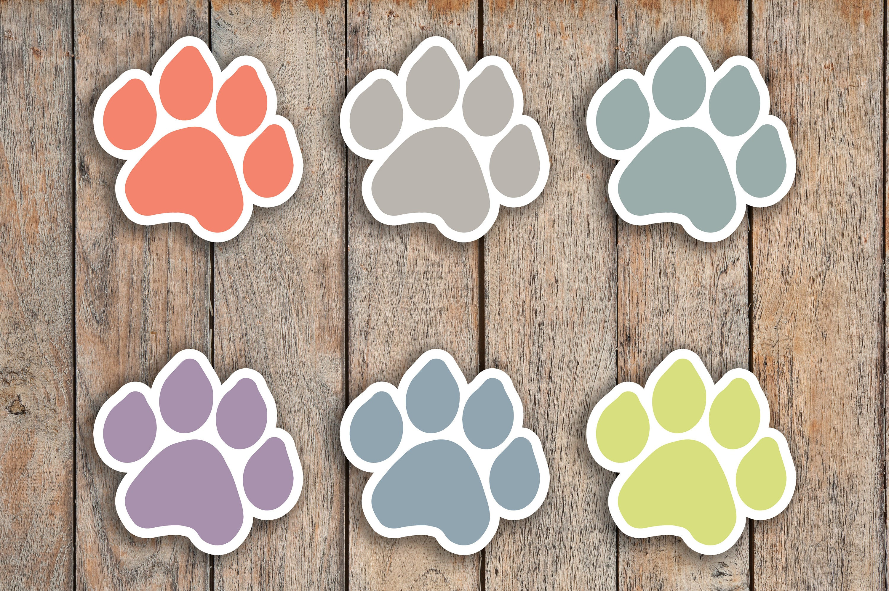 42 Paw, Pet, Dog, Cat, Animal Icon Stickers for 2018 inkWELL Press Planners IWP-Q33