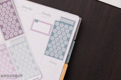 6 CLASSIC One Month Habit Tracker Hexagon Checkbox Weekly Focus Stickers for 2018 inkWELL Press Planners IWP-L18