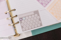 6 A5 FLEX One Month Habit Tracker Hexagon Checkbox Weekly Focus Stickers for 2018 inkWELL Press Planners IWP-L20