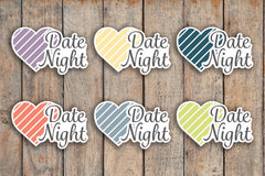 30 Date Night, Night Out, Love Planner Stickers for 2018 inkWELL Press Planners IWP-Q46
