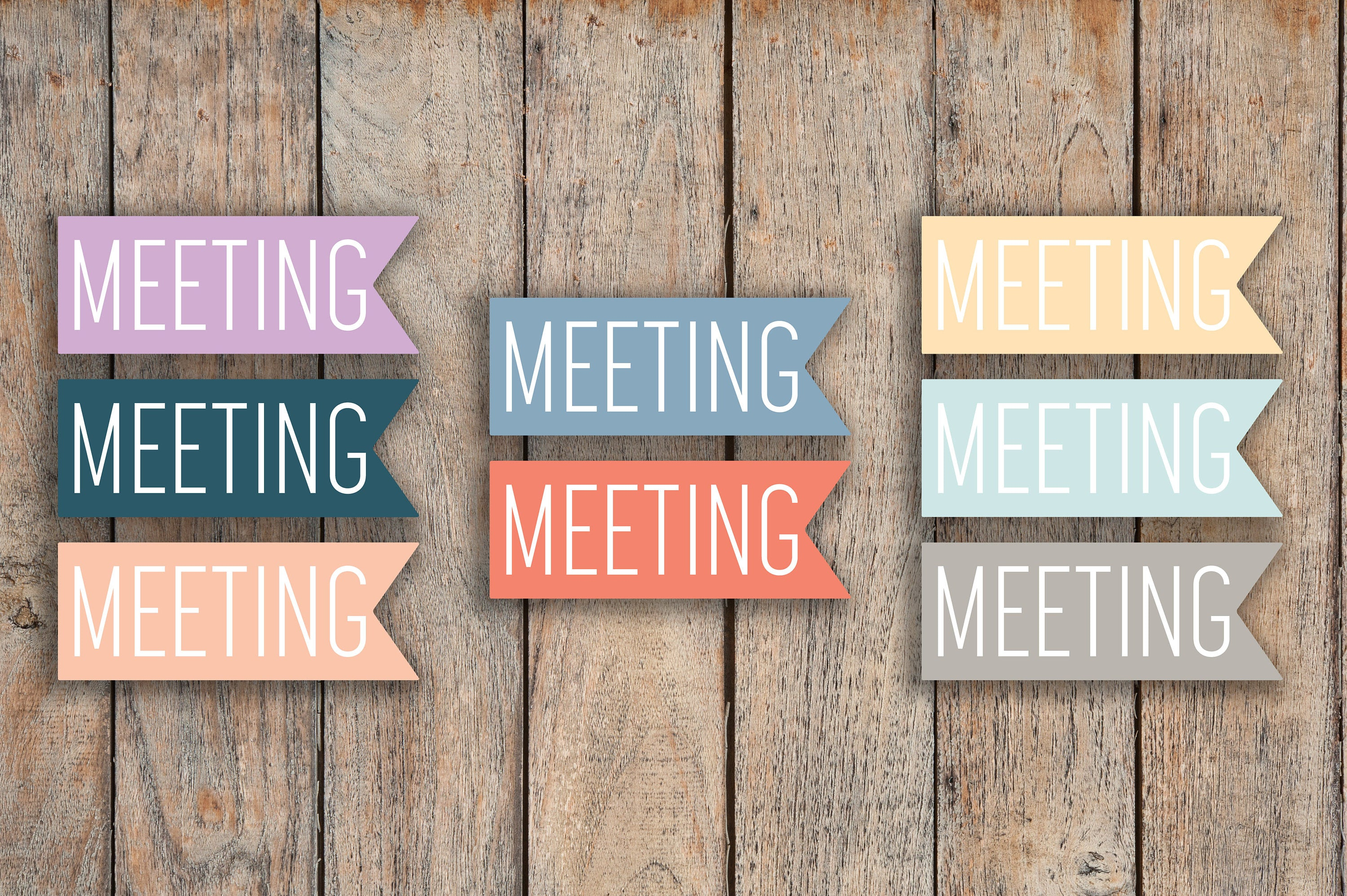 32 Meeting Flag, Important Date Flags Planner Sticker for 2018 inkWELL Press Planners IWP-Q47