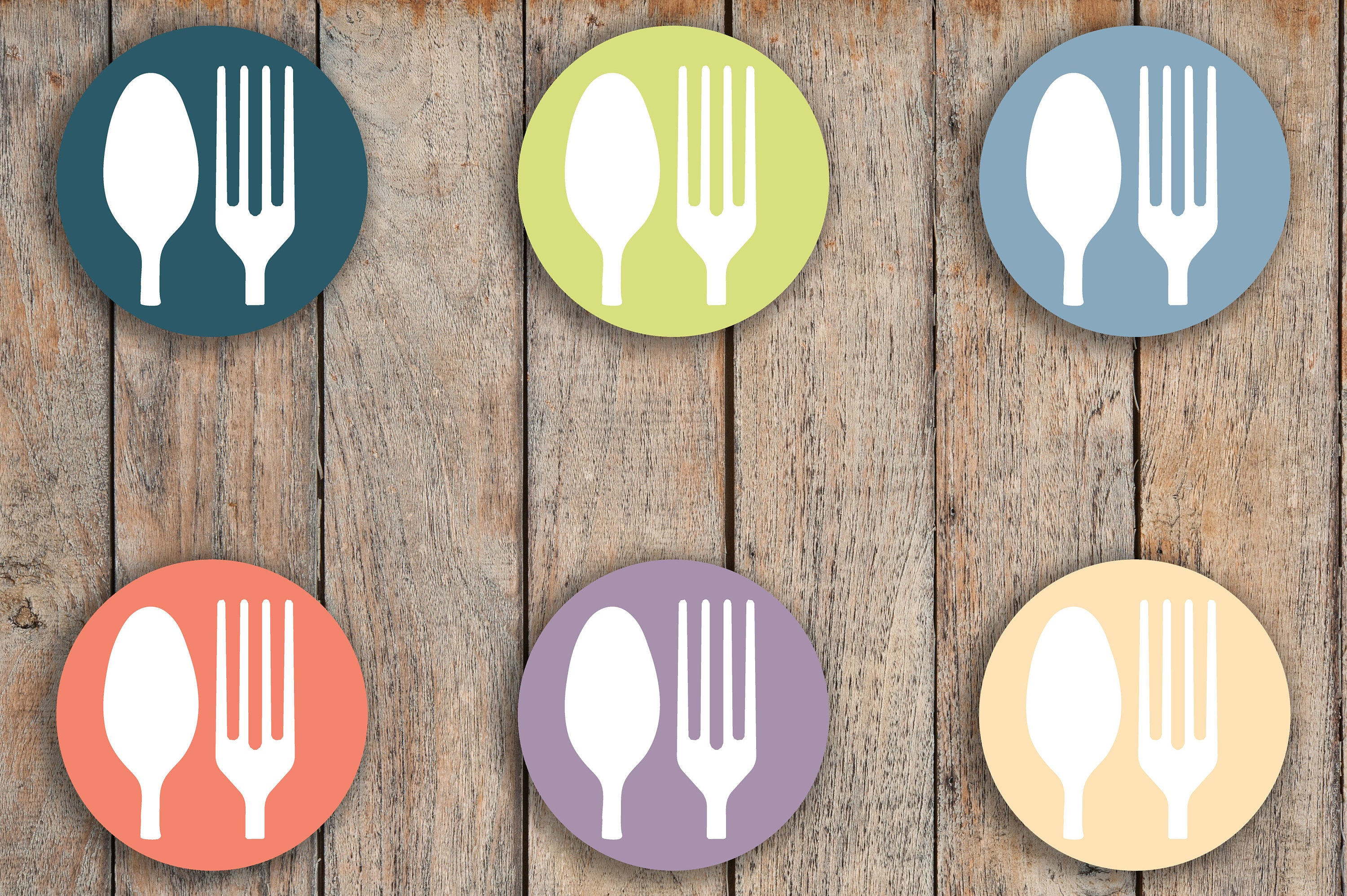 icon stickers Planner Stickers meal cutlery food Dinner