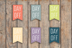 48 Day Off Flag Stickers for 2018 inkWELL Press Planners IWP-Q6