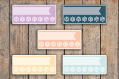 15 Daily Habit Tracker Sidebar/Notes Label Planner Stickers for 2018 inkWELL Press Planners IWP-Q89